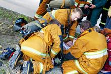 Fireman At Resue Operation