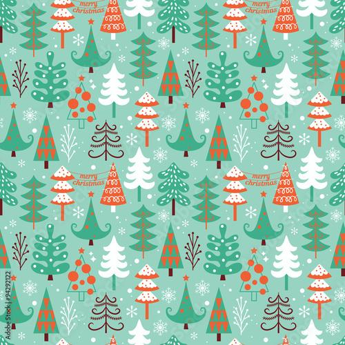 Stoffe zum Nähen Weihnachten Musterdesign design mit dekorativen Bäume. Vektor