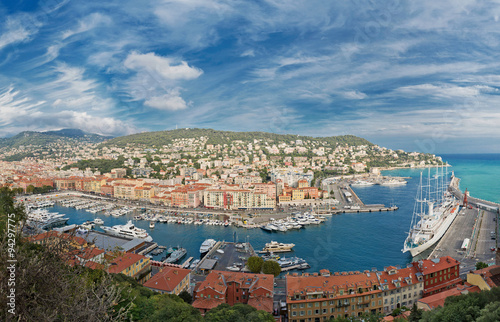 Fotobehang Nice Panoramic view of Nice, Cote d'Azur, France