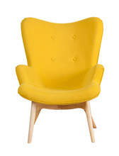 Yellow Modern Chair Isolated