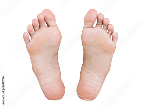 Photo  Girl foot isolated