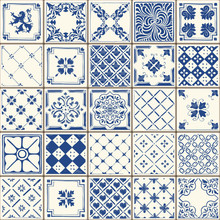 Indigo Blue Lisbon Paint Tile ...