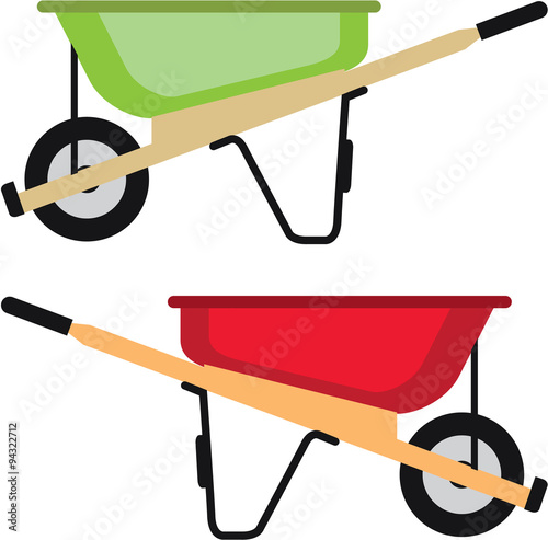 Photo Wheel barrow Vector