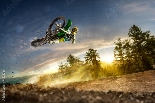 mata magnetyczna Dirt bike rider is flying high
