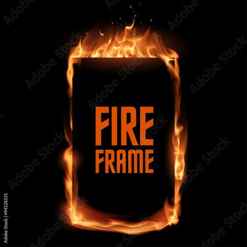 Photo  Fire frame