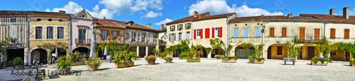 Royal square of Labastide d Armagnac panorama Wallpaper Mural