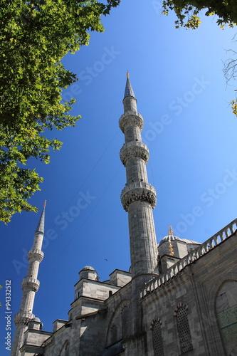 Poster Monument Les minarets de la mosquée bleue - Sultanahmet cami - Istanbul