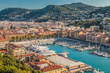 View of Nice Harbour in Southern France