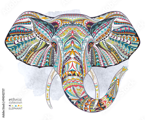 ethnic-patterned-head-of-elephant