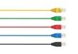 Leinwanddruck Bild - Netzwerkkabel Stecker in Farbe