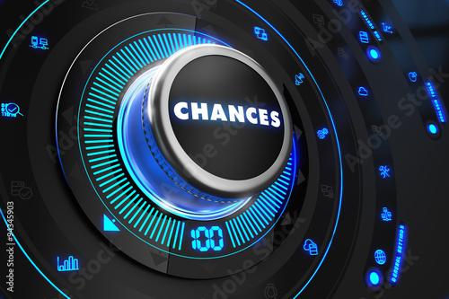 Fotografie, Obraz  Chances Controller on Black Control Console.