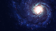 Awesome Spiral Galaxy Many Lig...