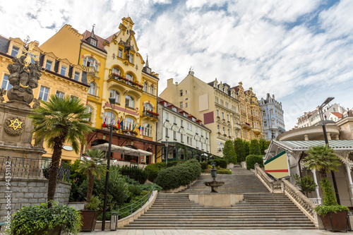 Carta da parati Karlovy Vary downtown