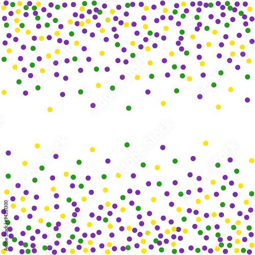 Mardi Gras dot background. Engraving illustration.Seamless pattern. Wall mural