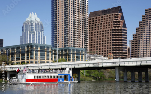 Foto op Plexiglas Texas Austin, Texas skyline, view from the river