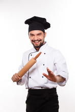 Happy Cook Man With Roller