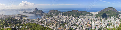 Foto auf Gartenposter Brasilien Panorama in Rio de Janeiro, Brazil