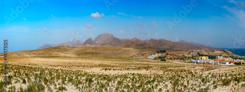 Foto op Canvas Fantasie Landschap Landscape mountain fantasy Fuerteventura Canary islands, Spain