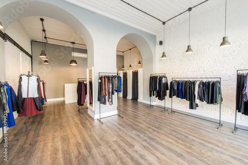 Das Innere der Mode Bekleidungsgeschäft Fototapete