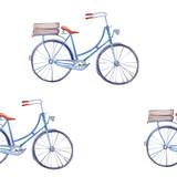 Akwarela wzór z rowerami. - 94382528