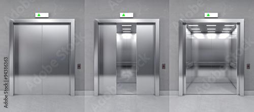 Obraz 3d modern elevator - fototapety do salonu