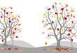 Herbstwald mit bunten Blättern