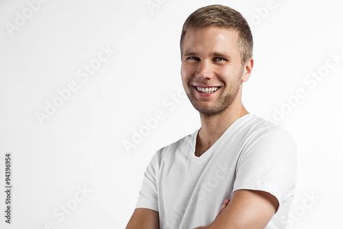 fototapeta na lodówkę Close-up portrait of a smiling a beautiful man