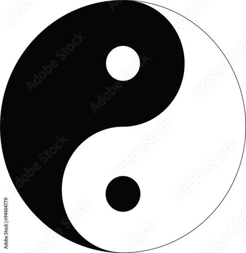 Plakat Symbol Yin Yang