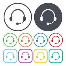 Illustration Of  Call Center Icon
