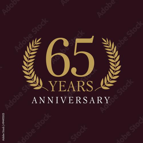 65 anniversary royal logo Tableau sur Toile