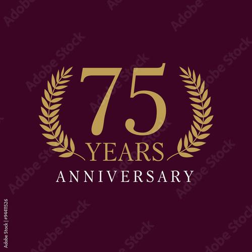 Photographie  75 anniversary royal logo