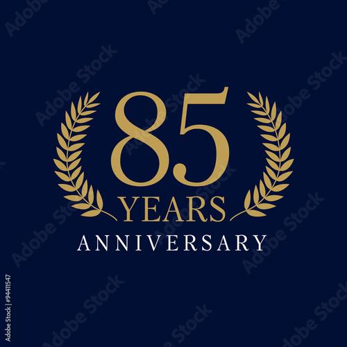 Photographie  85 anniversary royal logo