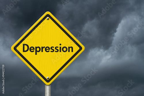 Fotografie, Obraz  Deprese varovným signálem