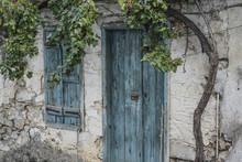 Wooden Door And Window Of A House