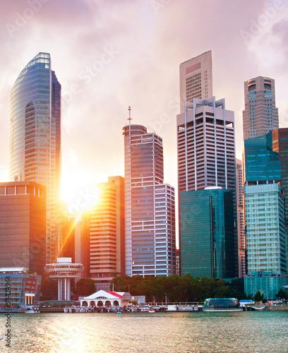 Foto op Aluminium Singapore Singapore Downtown Core