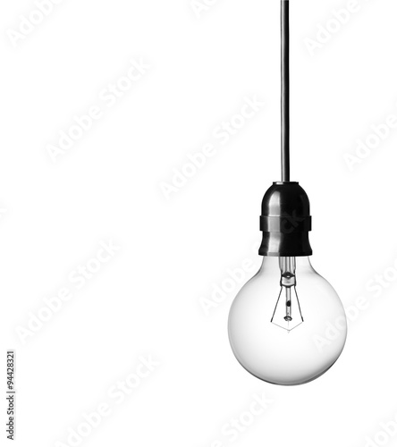 Obraz Light bulb isolated on white background - fototapety do salonu