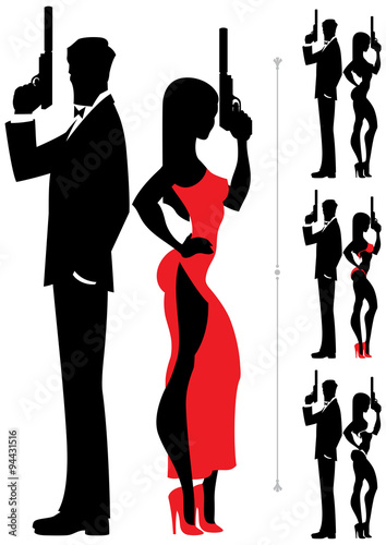 Spy Couple 3 Canvas Print