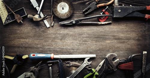 Fotografie, Obraz  grungy old tools