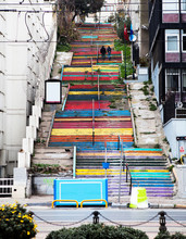 Colorful Stairs In Istanbul.
