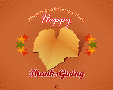 Holidays, Graphic Background, Happy Thanksgiving Message With Fabric Texture Backdrop And Vine Leave In Autumn Color Tones For Thanksgiving Day