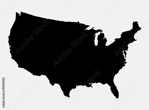 The United States of America map island silhouette. Good use ...