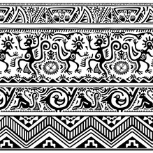 Seamless Pattern Of African Primitive Art