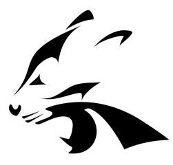 Fototapeta Zwierzęta black silhouette of panther head