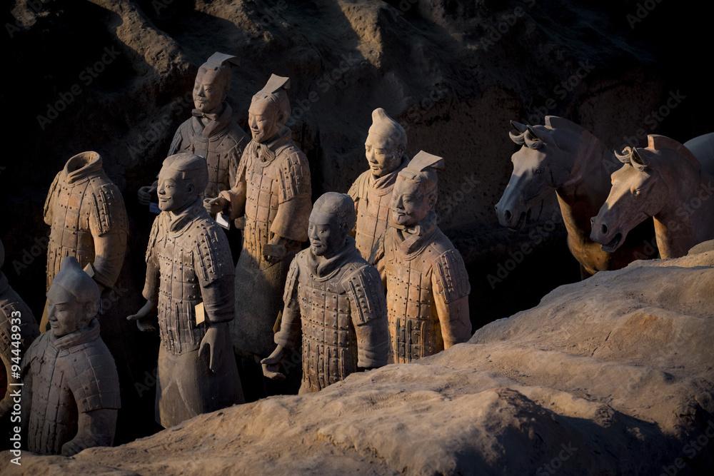Photo  terracotta warriors