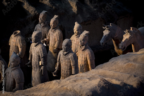 Photo  terracotta warriors