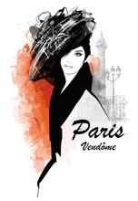 Woman In Paris - Place Vendome