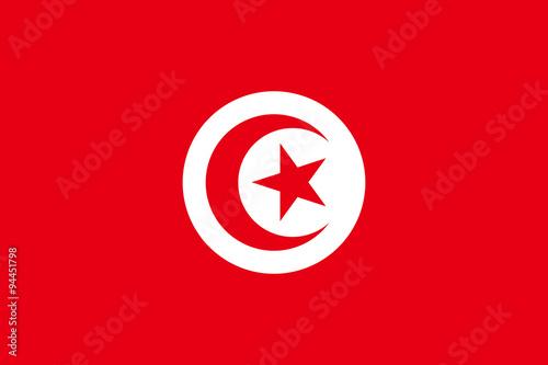 Flag of Tunisia Fotobehang