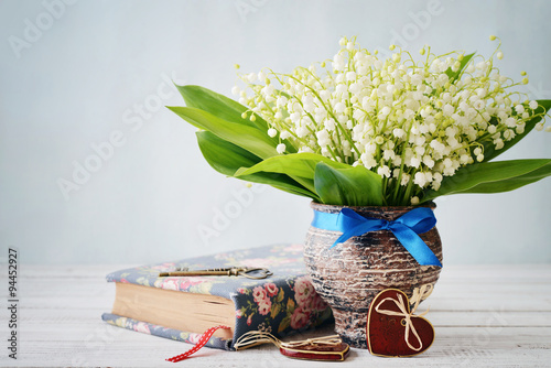 Wall Murals Lily of the valley Bouquet of may-lily