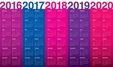 Calendar 2016 2017 2018 2019 2...