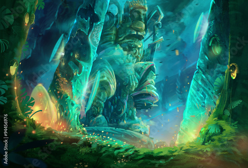 фотография  Illustration: A cave full of mysterious and forbidden aura